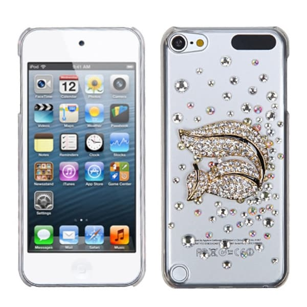INSTEN Gold Squirrel Diamante iPod Case Cover for Apple iPod Touch 5th Generation