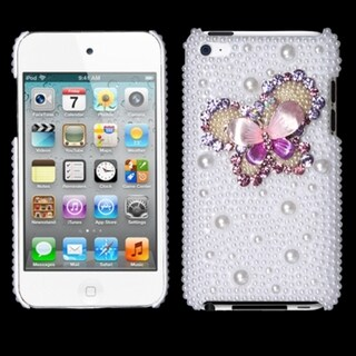INSTEN Butterfly Diamante iPod Case Cover for Apple iPod Touch 4th Generation