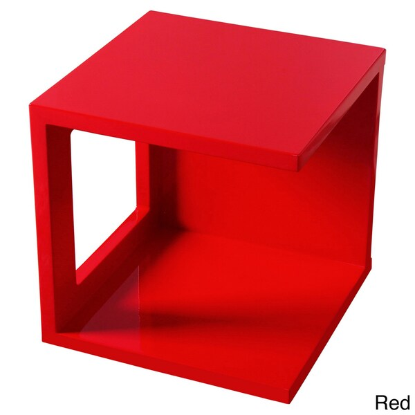 Gloss Fuctional Cube Accent Table