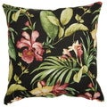 Melanya Midnight 17-inch Outdoor Throw Pillows (Set of 2)