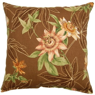 Passion Cocoa 17-inch Outdoor Throw Pillows (Set of 2)