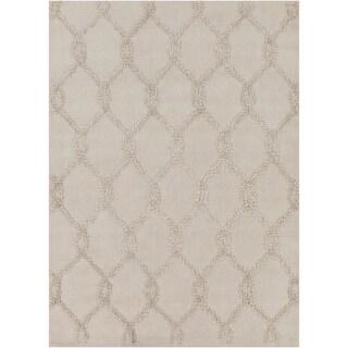 Mandara Hand-tufted Geometric Ivory Wool Rug (7' x 10')