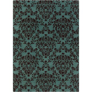 Mandara Hand-Tufted Floral-Patterned Transitional Wool Rug (5' x 7')
