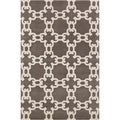Mandara Hand-tufted Abstract Taupe/White Wool Rug (5' x 7'6)