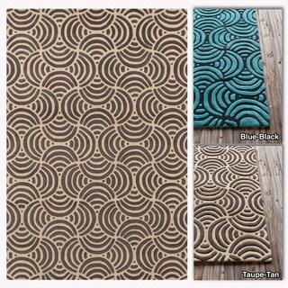 Mandara Hand-tufted Abstract Wool Rug (5' x 7')