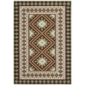 Contemporary Safavieh Indoor/Outdoor Piled Veranda Chocolate/Terracotta Rug (5'3 x 7'7)