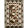 Safavieh Indoor/Outdoor Piled Veranda Chocolate/ Terracotta Rug (4' x 5'7)