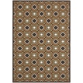 "Safavieh Indoor/Outdoor Piled Veranda Chocolate/Terracotta Geometric Rug (8' x 11'2"")"