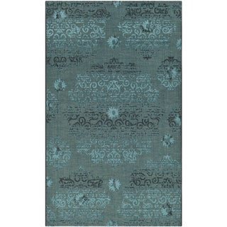 Safavieh Palazzo Black/Turquoise Overdyed Chenille Area Rug (5' x 8')