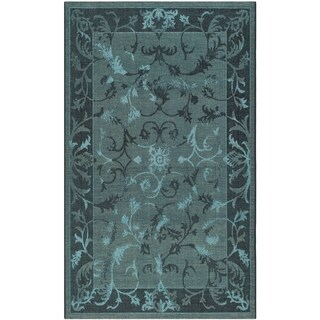 Safavieh Palazzo Black/Turquoise Over-Dyed Oriental Chenille Rug (8' x 11')