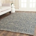 Safavieh Natural Fiber Blue/ Ivory Sisal Sea Grass Rug (6' Square)