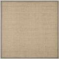 Safavieh Natural Fiber Natural/ Grey Sisal Sea Grass Rug (6' Square)