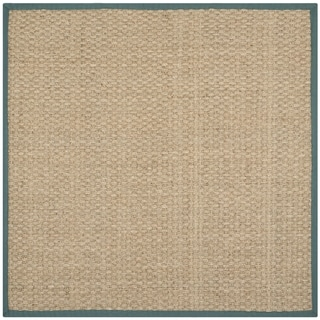 Safavieh Natural Fiber Natural/ Light Blue Sisal Sea Grass Rug (6' Square)
