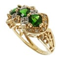 Michael Valitutti 14k Yellow Gold Imperial Diopside and Diamond Ring
