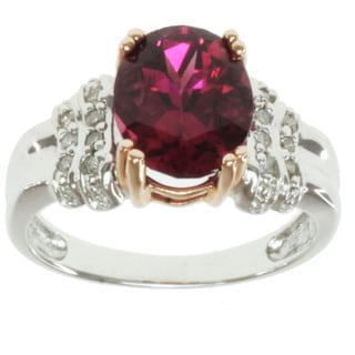 Michael Valitutti 14k Twoi-tone Gold Pink Tourmaline and Diamond Ring