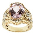 Michael Valitutti 14K Yellow Gold Prong-set Kunzite and Diamond Ring