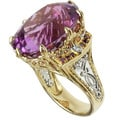 Michael Valitutti 14k Two-tone Gold Martha Rocha Kunzite and Diamond Ring
