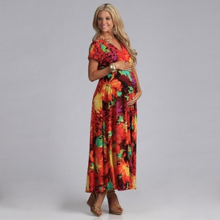 24/7 Comfort Apparel Women's Maternity Maxi Dress