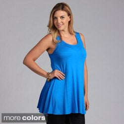 24/7 Comfort Apparel Plus Size Sleeveless Tunic Tank