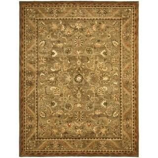 Safavieh Handmade Antiquity Olive/ Gold Wool Rug (11' x 15')
