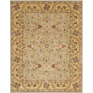 Safavieh Handmade Heritage Green Grey/ Gold Wool Rug (9'6 x 13'6)