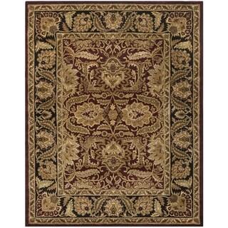 Safavieh Handmade Classic Burgundy/ Black Wool Rug (7'6 x 9'6)
