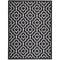 Safavieh Indoor/Outdoor Courtyard Black/Beige Geometric Rug (5'3