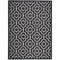 Safavieh Indoor/Outdoor Courtyard Black/Beige Area Rug (8' x 11')