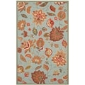 Safavieh Indoor/Outdoor Four Seasons 8 x 10-foot Blue Rug