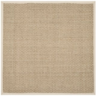 Safavieh Natural Fiber Natural/ Ivory Sisal Sea Grass Rug (6' Square)