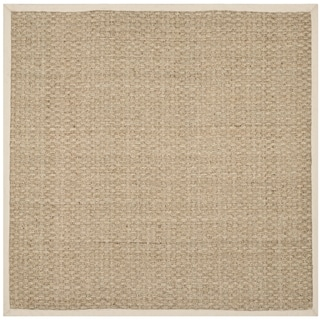 Safavieh Natural Fiber Natural/ Ivory Sisal Sea Grass Rug (8' Square)