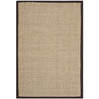 Safavieh Natural Fiber Natural/ Dark Brown Sisal Sea Grass Rug (4' x 6')