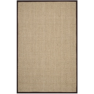 Safavieh Natural Fiber Natural/ Dark Brown Sisal Sea Grass Rug (6' x 9')