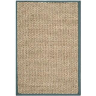Safavieh Natural Fiber Natural/ Light Blue Sisal Sea Grass Rug (5' x 8')
