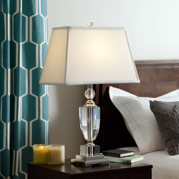 Baya Crystal 1-light Chrome Table Lamp