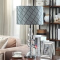 Moroccan Teal Crystal Table Lamp