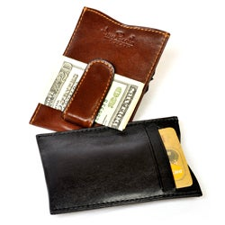 Tony Perotti Italian Leather Ultimo Money Clip with Credit Card Slots
