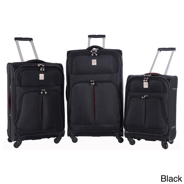 Jenni Chan Shanghai Collection 3-piece Spinner Luggage Set
