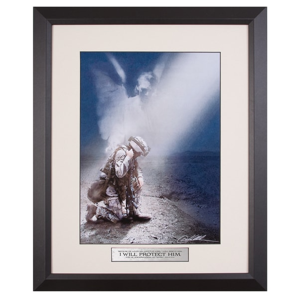 James Lawrence 'Soldier, Not Alone' Framed Wall Art