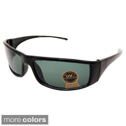 Men's Black Wrap-style Fashion Sunglasses
