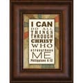 James Lawrence 'I Can Do All' Mini Framed Wall Art