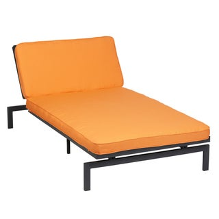 Alyssa Tangerine Adjustable Outdoor Chaise with Sunbrella Fabric Cushion