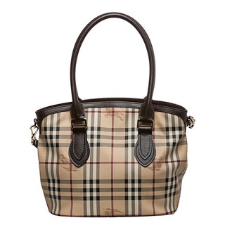Burberry Small Haymarket Newfield Tote
