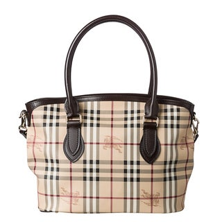 Burberry 'Newfield' Medium Haymarket Tote