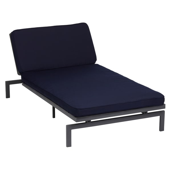 Alyssa navy adjustable indoor outdoor chaise with for 2 person chaise lounge indoor