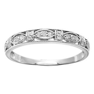 10k White Gold 1/5ct TDW Diamond Pave Vintage-style Ring (G-H, I1-I2)