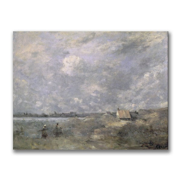 Jean Baptiste Corot 'Stormy Weather' Canvas Art