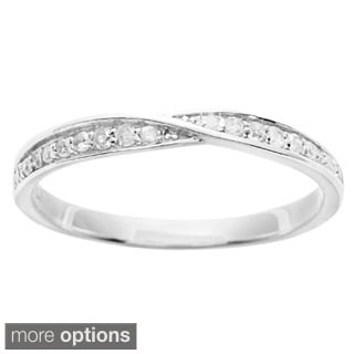 10k White Gold 1/4ct TDW Diamond Pave Bypass Band (G-H, I1-I2)