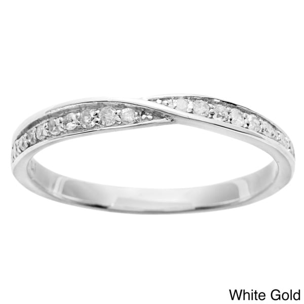 10k Gold 1/4ct TDW Diamond Pave Bypass Band (G-H, I1-I2)