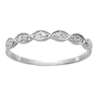 10k White Gold 1/5ct TDW Diamond Pave Ring (G-H, I1-I2)